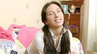 Silly brunette from unrestrained teen sex porn is ready for action