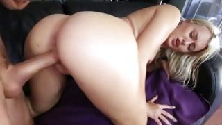 Blond doxy feels magnificent from aroused doggie sex