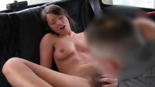 Slim young babe comes by her vagina fingered by ruthless gent