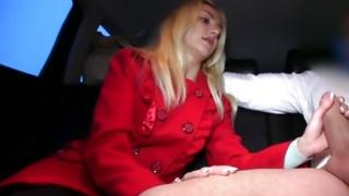 Blonde Mrs. is messed up in the car doggie