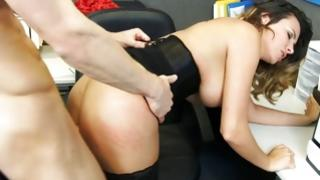 Topless hoe is poured with intense dick
