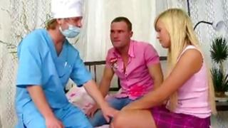 Sexually unusual 2 fellas 1 female with a thrilling whore pleasuring two manhoods at once