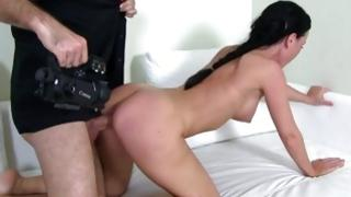 Stunning wench is riding on vulgar penis