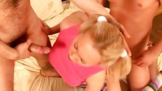 Soaked MMF fuck with matchless blondie