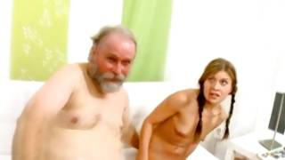 Young couple instructed wildly by bearded guy