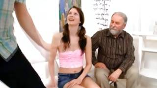 Dirty mature is sucking horny her cute boobs