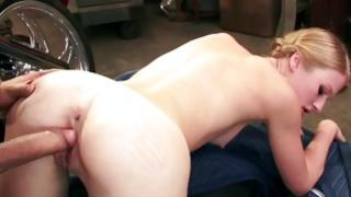 Forward fleshly fair-haired whore is getting her filled up