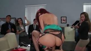 Red haired furious gf is sexually cock riding