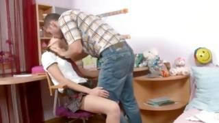 Watch bending over slut is fucked cruelly hard