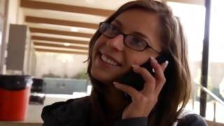 Appetizing young gf is depraved talking on the phone