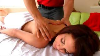 Little tanned beauty is riding a huge fat boner with passion hard